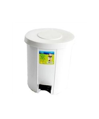Papelera con tapa para baños 11 Lts REDONDA