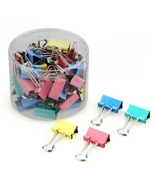 Clip blinder de colores Paq x 24 un