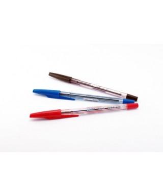 Blister de 3 Boligrafos OFIMAK rojo, azul y negro METRIX