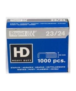 Grapas Rapid 23/24, uso industrial, 210 hojas, Caja.
