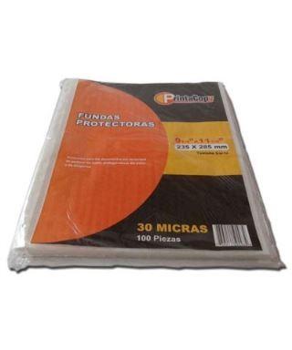 Hojas protectoras de documentos, T/Oficio, Marca PRINTA, paq. x 100