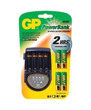 Cargador de Baterias GP Incluye 2 PAA / 2 P AAA