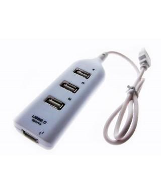 Hub de 4 Puertos USB. Adaptador Usb de 4 Puertos