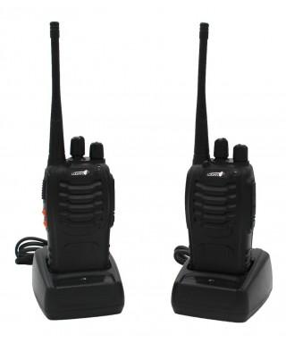 Radio Portatil Transmisor Logan Con Manos Libres x2