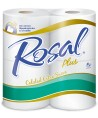 PAPEL HIGIENICO ROSAL PLUS 4 ROLLOS DOBLE HOJA
