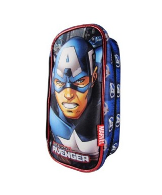 CARTUCHERA RECTANGULAR 3D CAPITAN AMERICA CAPI