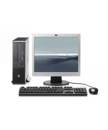 "Combo PC Desktop Hp Dual Core + Monitor 17"" Mouse y teclado"