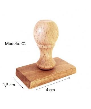 Sello de madera personalizado