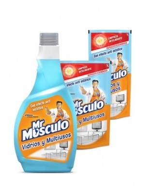 Mr. Musculo, Limpiavidrio y Multiusos 500 ML