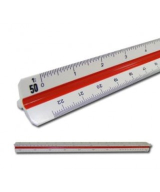 Escalimetro plástico 30 cms...