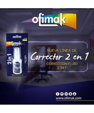 Corrector OFIMAK 2 en 1 / Tipo Brocha y Tipo Lapiz