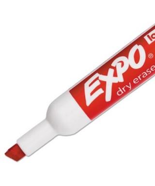 Marcador de pizarra EXPO, color rojo.