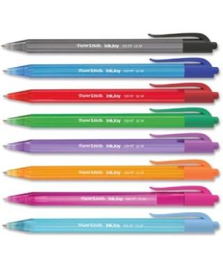 Bolígrafo 100 Rt colores surtidos Bolsa x 8 Und