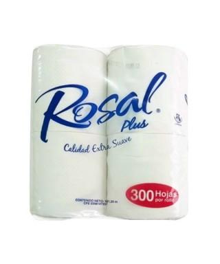 PAPEL HIGIENICO ROSAL PAQ. DE 4UN - 300 HOJAS VINOTINTO