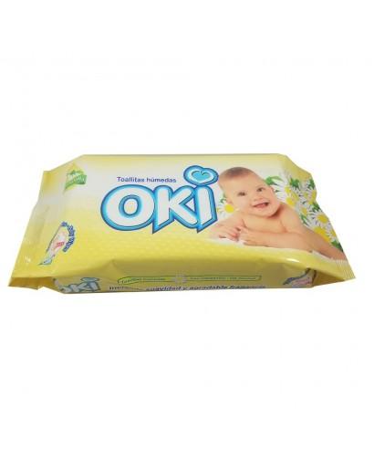 Toallas Humedas OKI ALOE VERA paquete de 50 unidades
