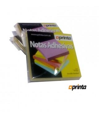 Taco de notas adhesivas PRINTA, 3x3 neon