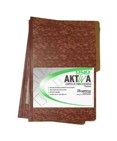 Carpeta de fibra Aktiva, Tamaño Oficio, Paq. x 25 unid. sin gancho