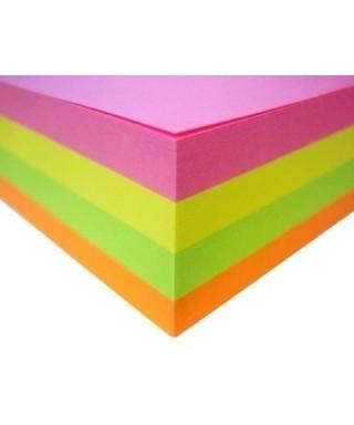 Taco de notas OFIMAK 400 hojas sin pega 75m x 75m Colores Neon