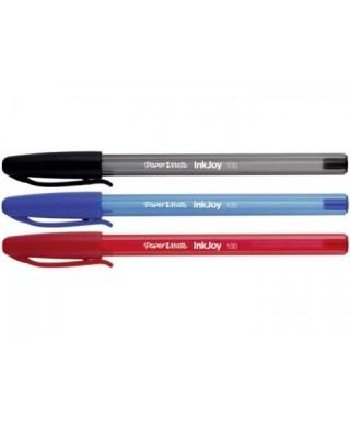 Bolígrafo 100 rt Paper mate, Blister de 3 colores Azul, Rojo y negro