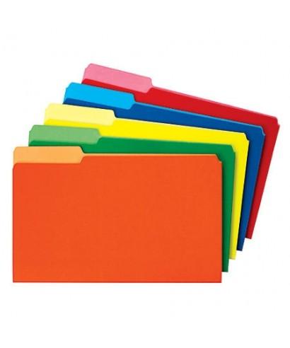 Carpetas de colores surtidos paquete de 50 unidades