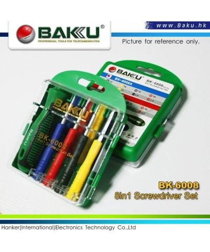 Destornilladores de precision BAKU modelo BK - 6008 8 en 1