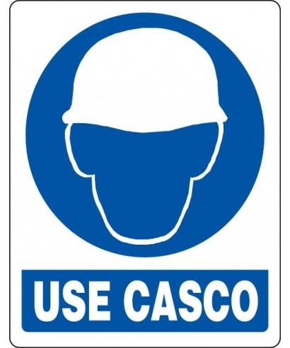 """Señal de seguridad """"USE CASCO"""""""