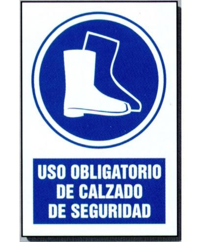 """Señal de seguridad """"USE CALZADO DE SEGURIDAD"""""""