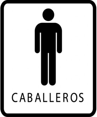 Señal de seguridad BAÑO DE CABALLEROS pequeña