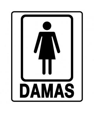"""Señal de seguridad """"Baño de damas"""" PQ"""