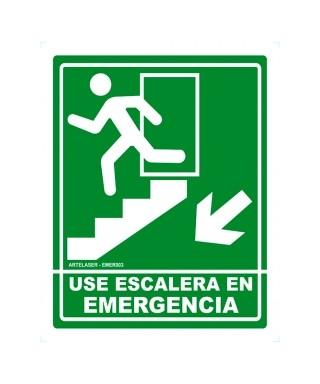 """Señal de seguridad """"ESCALERA DE EMERGENCIA"""" IZQ"""