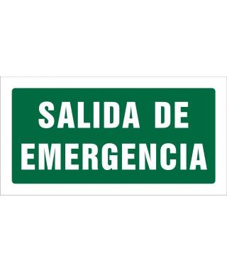 """Señal de seguridad """"SALIDA DE EMERGENCIA"""" PQ"""