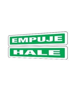 """Señal de seguridad """"HALE / EMPUJE"""""""