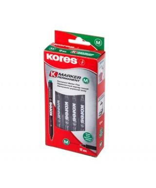 Marcador Ultrafino NEGRO KORES Caja de 12 unidades