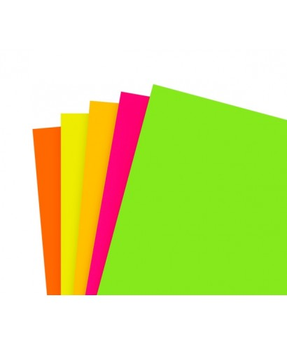 Hojas fluorescentes 21,5x28cm Tamaño Carta colores surtidos 100 hojas