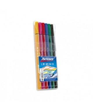 Marcadores Fine Liner ARTESCO (6 unidades)