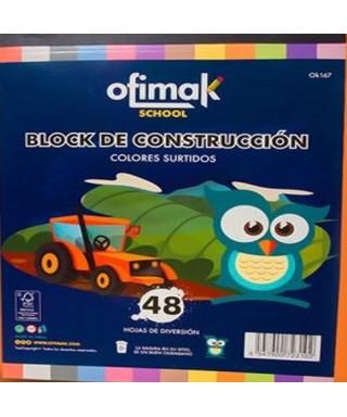 """Block de construccion 12 hojas OFIMAK 9""""x12"""""""