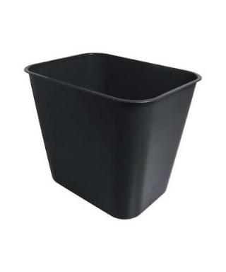 Papelera plástica negra para oficinas