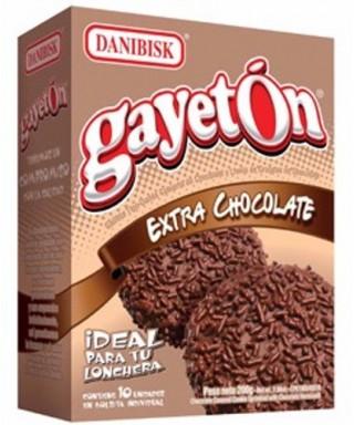 GALLETA CUBIERTA DE CHOCOLATE GAYETON EXTRA CHOCOLATE X10UN