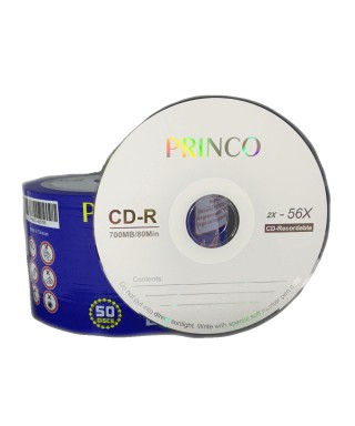 CD Virgen. Princo, 52 x 700MB, 80 min (25 unidades)