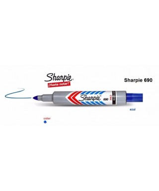 Marcador Sharpie 690, Punta Fina Color Azul