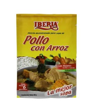 SOPA IBERIA POLLO C/ARROZ...