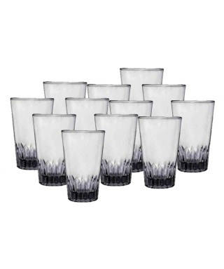 Vaso de vidrio liso TRIANA 10 cm 12 Unidades