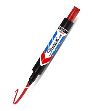 Marcador sharpie 680, punta fina, color Rojo