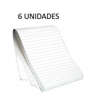 Block de Notas de una línea 80 Hojas (Bulto por 6 Und)