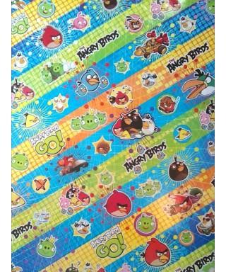 Papel Contact (58 x 66) Modelos para niños: (Angry Birds)