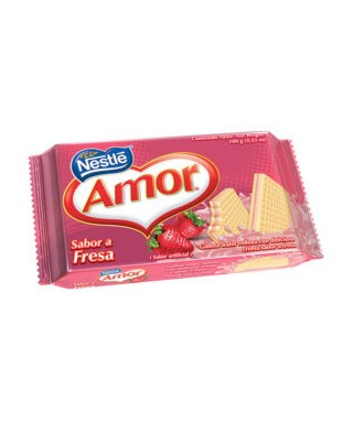 Galleta wafer AMOR sabor a...