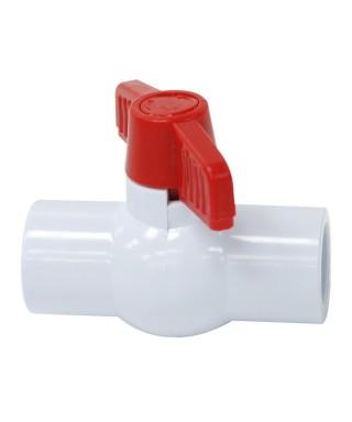 """Llave de Bola sin rosca 1/2"""" Material Plástico Marca MIVC diseño compacto"""
