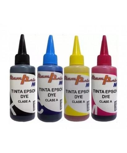 Tinta Dye Para Epson 100 Ml Los 4 Colores Cada Uno