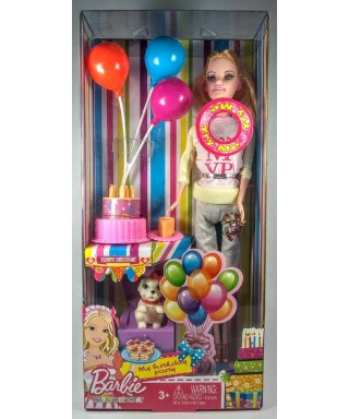 BARBIE HAPPY BIRTHDAY FELIZ CUMPLEAÑOS