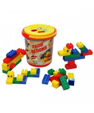 TOBO DE LEGOS FACO BLOCKS 50 PIEZAS